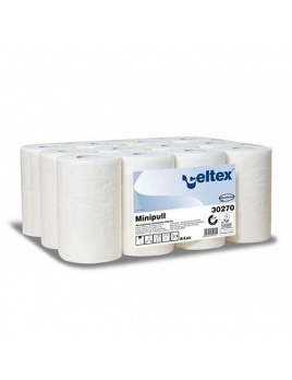 Papírová rolka MINI PULL bílá 100 % celulóza, 2vr., 72 m