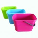 Kbelík plastový 12 l, plastová rukojeť, barevný