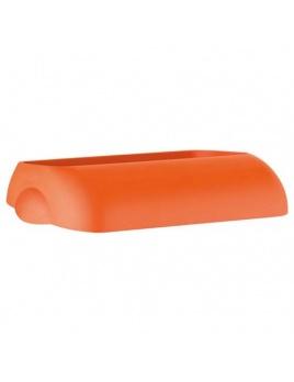 Veko na plastový koš COLORED, oranžový