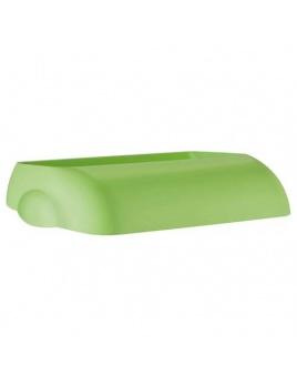 Veko na plastový koš COLORED, zelený