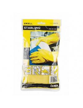 Rukavice STARLING žluté, gumové , velikost