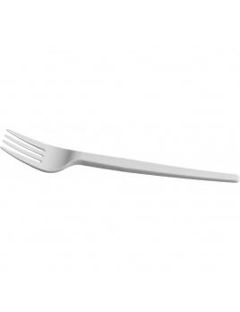 Vidlička plastová bíla 17 cm, 100 ks/balení