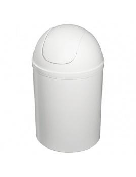 Koš plastový okrúhly 7 l, bílý